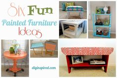 Six Fun Painted Furniture Ideas