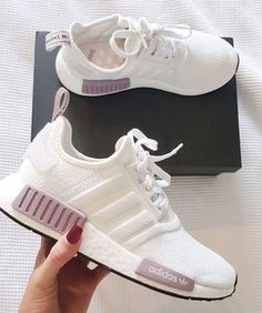 Pink Adidas Shoes, Adidas Running Shoes, Running Trainers, Cute Running Shoes, Adidas Shoes Nmd, Cool Adidas Shoes, Adidas Nmd Women Outfit, Pink Sneakers, Pink Trainers Outfit