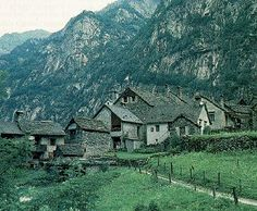 This looks like something out of a J.R.R. Tolkien book. Ticino, Switzerland