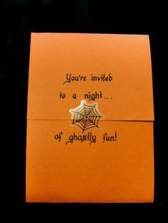 Spider Halloween party invitations