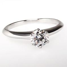 Tiffany & Co. Classic 6-Prong Diamond Solitaire Engagement Ring Platinum