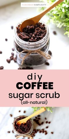 You need a Coffee Sugar Scrub in your life! Treat yourself to a refreshing spa-like homemade DIY thats wonderful for exfoliation and pampering! Makes a great gift too! This recipe is all-natural and made with coconut oil. Sugar Scrub Recipe, Sugar Scrub Diy, Diy Scrub, Inexpensive Meals, Coffee Scrub, Tips Belleza, Treat Yourself, Scrubs, Spa