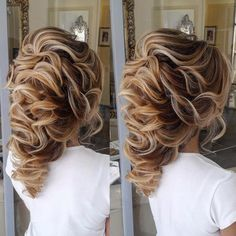 Gorgeous waved updo by Elstile