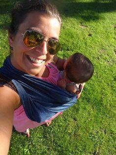 """""""Estrear o sling da Rosa Pomar oferecido pela Tia Zélia!"""""""