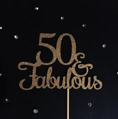 50 y fabuloso de la torta brillo de la torta la torta de