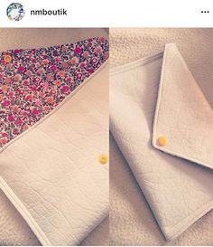 tuto pochette mail enveloppe Pochette Diy, Blog Couture, Diy And Crafts, Pouch, Sewing, How To Make, Leather, Bags, Wallets