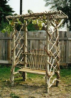 Twisted twig trellis...