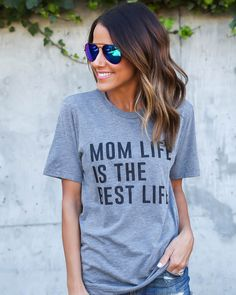 Mom Life Is The Best Life Tee - ILY COUTURE