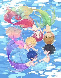 From lesfrites ... Free! - Iwatobi Swim Club, free!, iwatobi, nanase, haruka nanase, haru nanase, haru, makoto tachibana, makoto, tachibana, merman, rin matsuoka, matsuoka, rin, nagisa hazuki, nagisa, hazuki, rei ryugazaki, rei, ryugazaki, merman