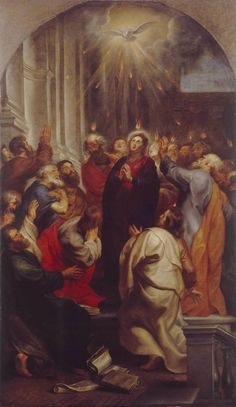 The Outpouring of the Holy Spirit / La venida del Espíritu Santo // 1619 // Peter Paul Rubens // Alte Pinakothek // #Pentecost #Pentecostés