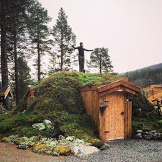 "voiceofnature: "" Norwegian earth sheltered hut (based on norse and sami traditions). """