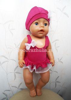 Слитный купальник для куклы Baby Born