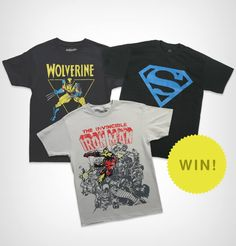 """Participate in """"The Superhero T-shirt Give-away!"""" http://illusion.scene360.com/giveaway/46511/superhero-t-shirt-give-away/"""