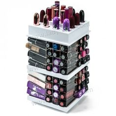 Lady Moss Square Top Lipstick Tower - White | LadyMoss.com