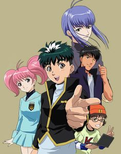 Tantei gakuen Q - The Dan Detective School is a Japanese detective school permitted by the government. Kyu, an ordinary boy with big dreams to become detective, attends the school as a member of Q Class along with Megu, the girl with photographic mem Detective Shows, Manga Games, Marvel Movies, Captain Marvel, Martial Arts, Character Art, Crime, School, Boys