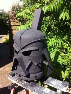 The Darth Vader Wood Burning Stove (4 Photos)