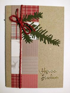 Yksinkertainen helppo joulukortti jämäpapereista craft Gift Wrapping, Gifts, Gift Wrapping Paper, Presents, Wrapping Gifts, Favors, Gift Packaging, Gift