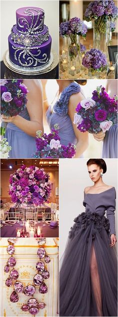 Purple Wedding Ideas; See photo credits in the article