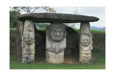 size: Giclee Print: Colombia, Huila Department, San Agustin, Archeological Park, Dolmen with Caryatids : Artists Find Art, Framed Artwork, Giclee Print, Garden Sculpture, San, Artists, Coffee, Outdoor Decor, Poster