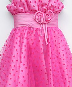 Party Dress in Hot Pink #salesuit #cheapsuit #saledress #cheapdress #flowergirldress #tulledress