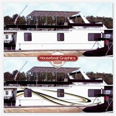 Houseboatgraphicscustomboatdecalsvinylstriping Boating And - Modern custom houseboat graphics