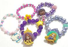 Mystery Bracelet Grab Bag, Girls Bracelets, Princess Bracelets, Stocking Stuffers, Party Favors, Birthday, Handmade Custom Beaded Jewelry