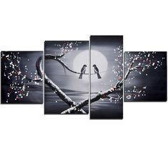 Love through a Birds Eyes Landscape Canvas Wall Art Oil Painting