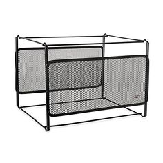 Rolodex Mesh Collection Side-Load Double Tray with Hanging File Black (22191)