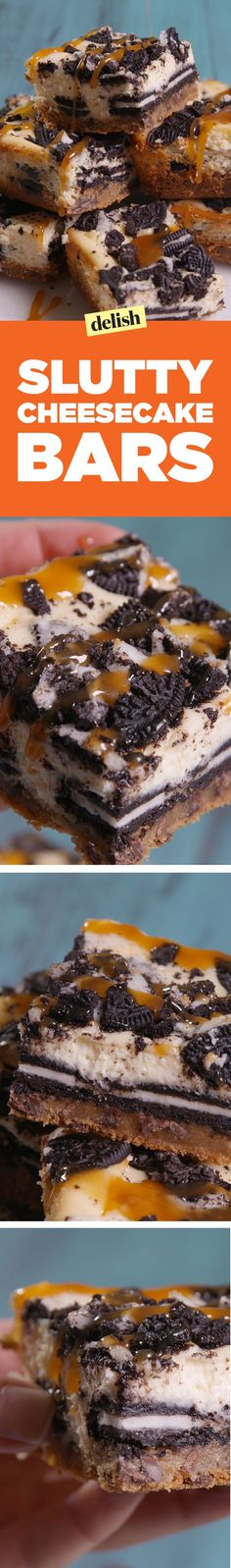 Slutty Cheesecake Bars Are Three Over-the-Top Layers of Decadence