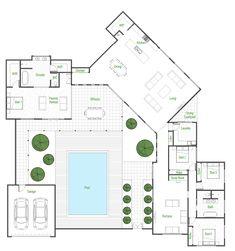 Aurora - Green Homes House Plans Mansion, Duplex House Plans, House Layout Plans, House Plans One Story, House Plans And More, Barn House Plans, Craftsman House Plans, Bedroom House Plans, Dream House Plans