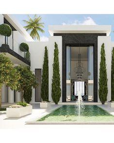 Dream Home Design, Home Interior Design, Design Entrée, Modern Villa Design, Contemporary Design, Luxury Homes Dream Houses, Dream House Exterior, Big Houses Exterior, Classic House