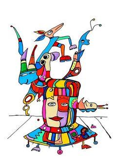 Pylokraten V von Etelka Kovacs-Koller - mad for art auf DaWanda.com Princess Peach, Illustration, Artworks, Disney Characters, Fictional Characters, Mad, Etsy, Drawing S, Illustrations