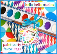 ART  PAINTING Birthday Party Instant Download by bellabellastudios, $3.00