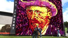 125th Anniversary of Van Gogh's Death Memorialized with 50,000 Flower Portrait