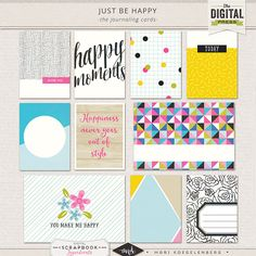 Just be Happy | The Collection | Journal Cards at The Digital Press