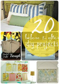 20 DIY Before and After Projects -- Tatertots and Jello #DIY #beforeandafter