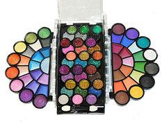 Dazzling 77 Color Matte Neon Glitter Eyeshadow Makeup Kit ** Details can be found at http://www.amazon.com/gp/product/B004TP9FHG/?tag=passion4fashion003e-20&de=050816000540