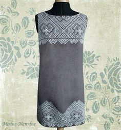 Items similar to Column dress Sleeveless dress with embroidery Black and white linen pencil dress Unique boutique dress Ladies designer clothes Chic dresses on Etsy Hand Embroidery Dress, Embroidery Patterns Free, Embroidered Clothes, Embroidery Fashion, Ethnic Dress, Boho Dress, Column Dress, Great Gifts For Mom, Costume