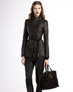 Asymmetric Floral Jacquard Jacket by Gucci at Bergdorf Goodman.