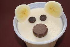 A cute snack for Arctic Animal week!  Polar Bear Snack