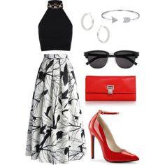 maxi printed skirt #2