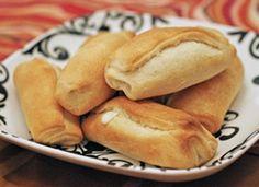 Mozzarella Crescent Rolls YUM!      1 package Pillsbury Crescents Recipe Creations      4  mozzarella string cheese sticks