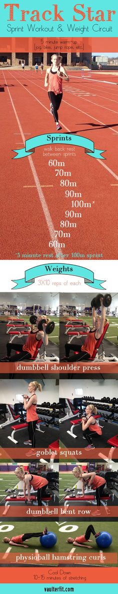 Track Star Sprint Workout  #sprinting #fitness #workout