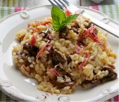 Receta Risotto de Boletus y Jamón Ibérico - Ybarra en tu cocina Quinoa, Colombian Cuisine, Polenta, Recipe Images, Italian Recipes, Food To Make, Sausage, Food And Drink, Appetizers