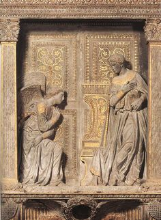 Annunciation by DONATELLO  - Santa Croce, Florence - amazing, dynamic, unconventional