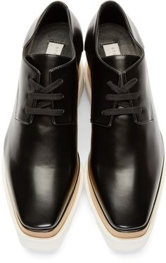 Stella McCartney Black Platform Derbys