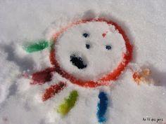 Au fil des jours: Peinture sur neige :)