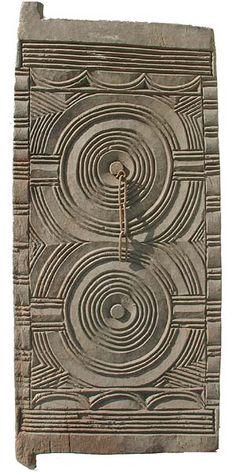 Africa | Igbo Door ~ Carved of a sacred hardwood, iroko.  Nigeria  | © Tim Hamill