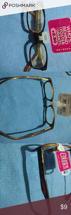 Reading glasses + 2.50 Magnifying glasses Foster Grant Accessories Glasses
