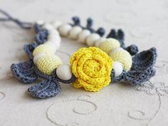 Handmade crochet necklace - EverythingEtsy.com